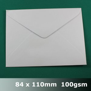 E10AH - 84 x 110mm Plain White Envelope 100gsm BLnS