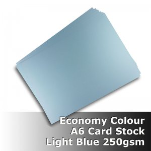 #H2102 - Economy Card Light Blue 250gsm A6 Size