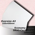#H5569 - Economy White Card 300gsm SRA3 (Oversize A3)