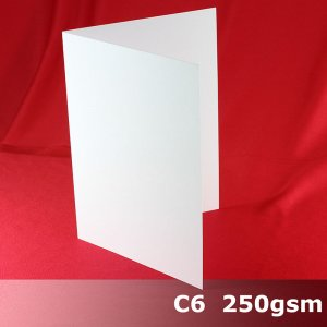 #H5322A - C6 Scored Cards Economy White Card 250gsm