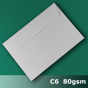 E24CA - C6 (114 x 162mm) White Envelope 80gsm WPnS