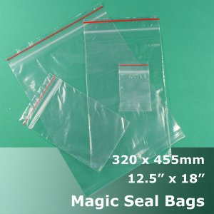 "#MB412518 - 320x455mm (12.5"" x 18\"") Magic Seal Poly Bag"