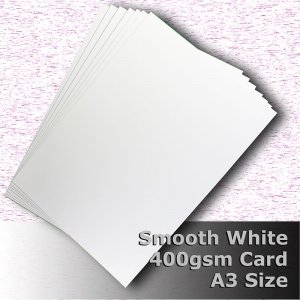 #H7568 - Smooth Finish White Card 400gsm A3 Size