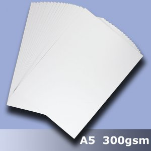 #H5505 - Economy White Card 300gsm A5 Size