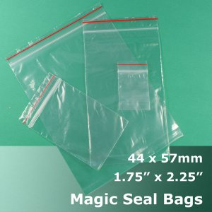 "#MB4175225 - 44x57mm (1.75"" x 2.25\"") Magic Seal Poly Bag"
