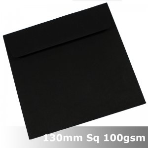 #N0277 - Kaskad Raven Black Envelope 100gsm 130mm Square WLnS