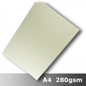 #H8408 - Smooth Finish Card Ivory 280gsm A4 Size