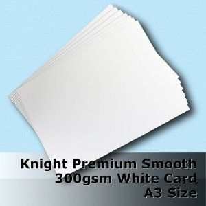 #H6568 - Knight Smooth Finish White Card 300gsm A3 Size