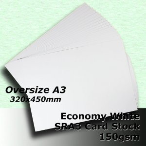 #H5169 - Economy White Card 150gsm SRA3 (Oversize A3)