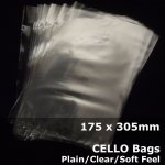 #PP712 - 175x305mm Plain Clear Cello Bags