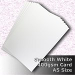 #H7505 - Smooth Finish White Card 400gsm A5 Size