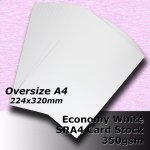 #H5609 - Economy White Card 350gsm SRA4 (OverSize A4)