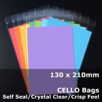 #PR130210 - 130x210mm Crystal Clear Cello Bags