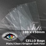 #PM100150 - 100x150mm Plain Clear Cello Bags