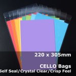 #PR220305 - 220x305mm Crystal Clear Cello Bags