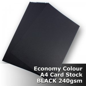 #H2008 - Economy Card BLACK 240gsm A4 Size