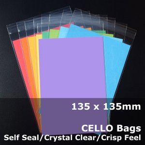 #PR135135 - 135x135mm Crystal Clear Cello Bags