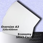 #H5369 - Economy White Card 250gsm SRA3 (Oversize A3)