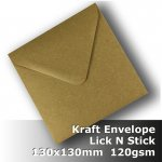 #S0277 KRAFT Envelope 120gsm 130mm Square