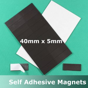 MA4015 - Magnetic Strips 40x15mm Sheet 20 Self Adhesive