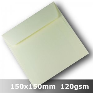 #H8474 - Smooth Ivory Envelope 120gsm 150mm Square WLnS