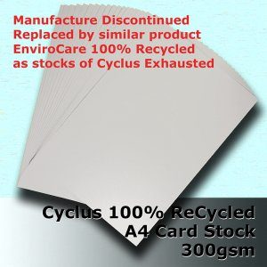 #S3108 - Cyclus 100% ReCycled White Card A4 300gsm