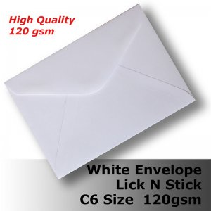 E25AP - C6 (114 x 162mm) White Envelope 120gsm BLnS