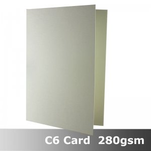 #H8422A - C6 Scored Cards Smooth Ivory Colour 280gsm