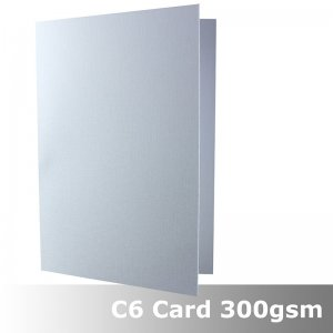 #H6022A - C6 Scored Cards Linen White Card 300gsm