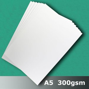#H7205 - Cast Coat (Gloss) White Card 300gsm A5 Size