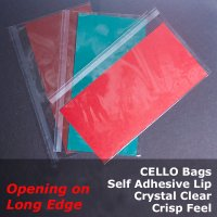 """PT"" - Crystal Clear Cello Bags"